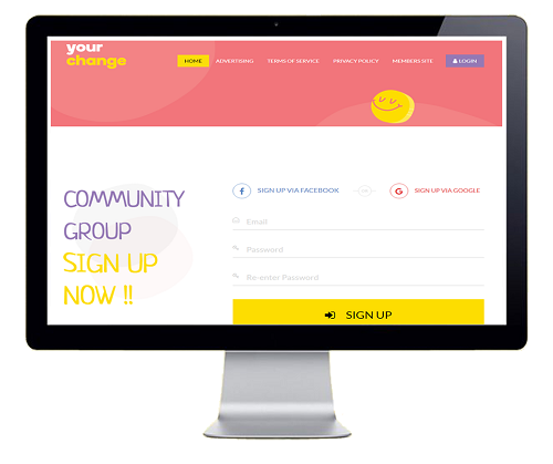 Community Group Sign Up | YourChange